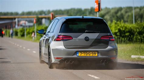 golf 7 dynamische blinker loud volkswagen golf 7 r w armytrix exhaust launch controls accelerations