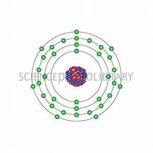 Bromine, atomic structure - Stock Image C013/1582 ...