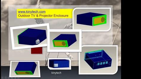 build  outdoor projector enclosure projector