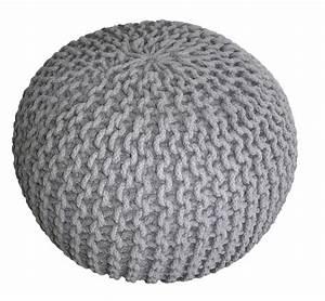 Pouf Chambre Enfant : pouf tricot gris d co chambre petits enfants pinterest tricot et crochet poufs et ps ~ Teatrodelosmanantiales.com Idées de Décoration