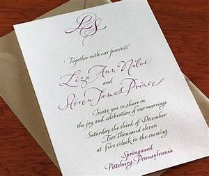 guests are sure to notice the detailed hand written With how much notice wedding invitations