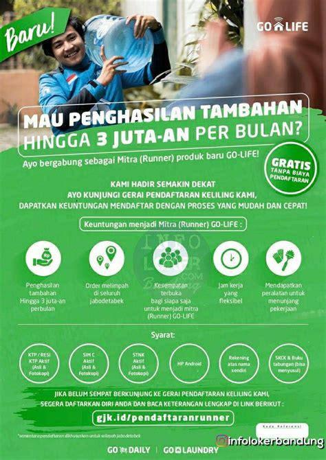 lowongan kerja  daily pt gojek indonesia bandung
