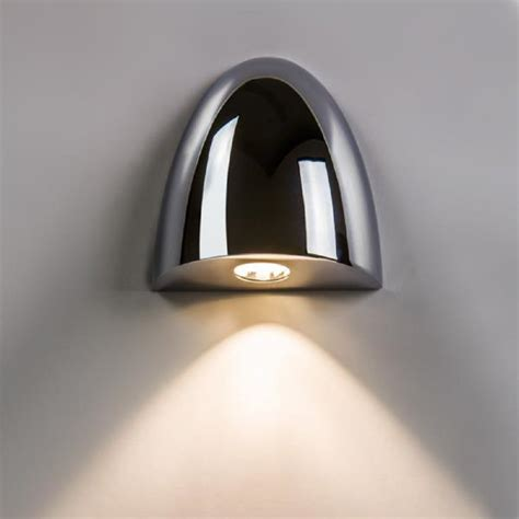 led recessed chrome wall washer light ip65 bathroom safe