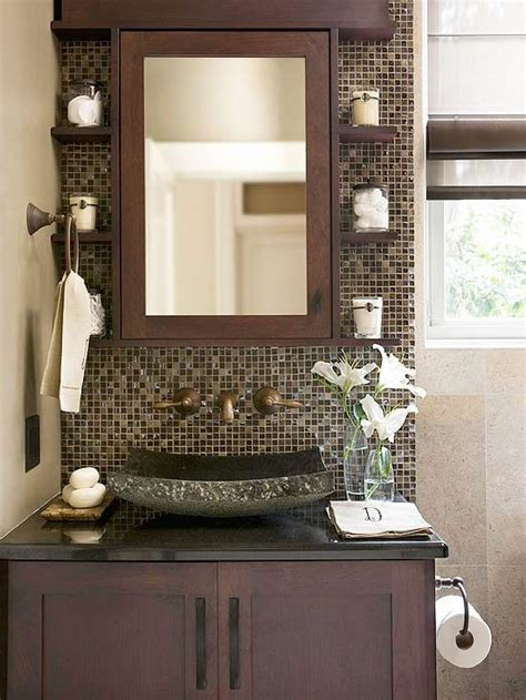 Brown Mosaic Bathroom Mirror by 40 Brown Bathroom Wall Tiles Ideas And Pictures