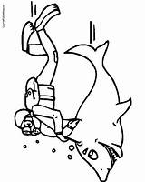 Diver Scuba Coloring Drawing Pages Printable Getcolorings Clipartmag sketch template