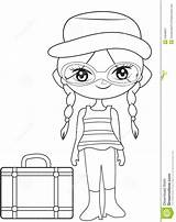 Coloring Travel Illustration sketch template