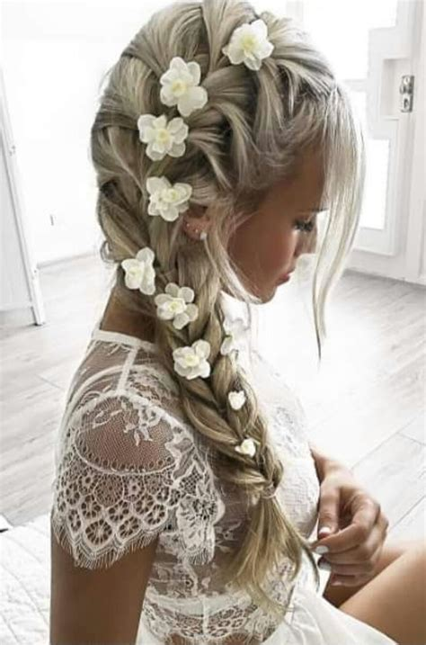 Terrific Side French Braid Hair Style For Brides