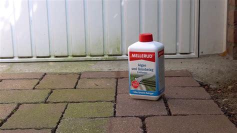 gruenbelag entfernen terrasse terrassenreinigung
