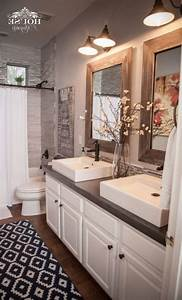 This, Industrial, Farmhouse, Bathroom, Is, The, Perfect, Blend, Of, Styles, And, Creates, Such, A, Cozy, A