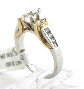 two engagement rings 14k two tone three marquise engagement ring bright jewelers