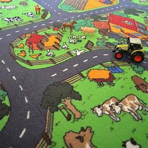 tapis de jeu circuit voiture campagne 145 x 200 cm With tapis moquette circuit