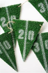 DIY Football Party Astroturf Yard Line Bunting - Salty Canary