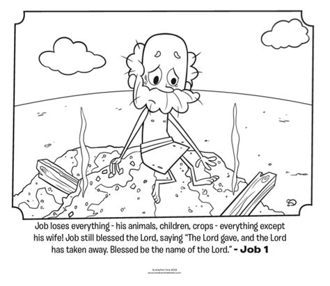 job loses  bible coloring pages whats
