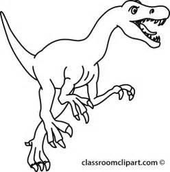 Black and White Dinosaur Clip Art