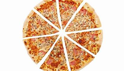 Fractions Pizza Cut Into Pieces Equal Write