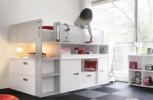 Lit Mi Hauteur Avec Rangement : chambre enfant avez vous inspir votre enfant la ranger ~ Premium-room.com Idées de Décoration