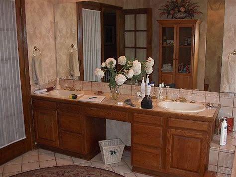 bathroom decoration decor  oak cabinets color schemes