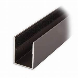 Rolladen Führungsschienen Kunststoff : maxi aluminium f hrungsschiene 25 x 19 x 25 mm beflockt dunkelbronze eloxiert diwaro ~ Orissabook.com Haus und Dekorationen
