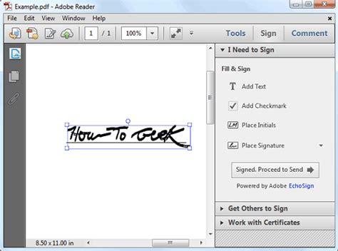 sign    adobe reader check