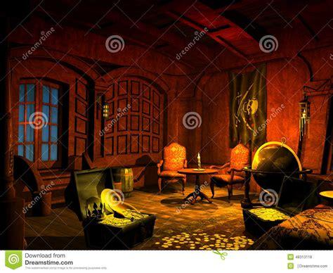 Barco Pirata Interior by Pirate Ship Stock Illustration Image Of Treasures Ocean