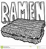 Ramen Noodles Sketch Illustration Doodle Vector Dreamstime sketch template