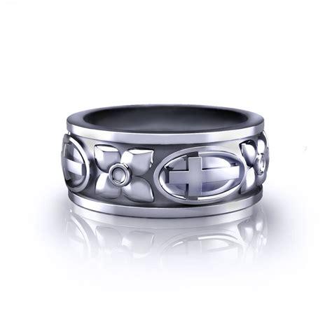 cross and dogwood wedding ring jewelry designs