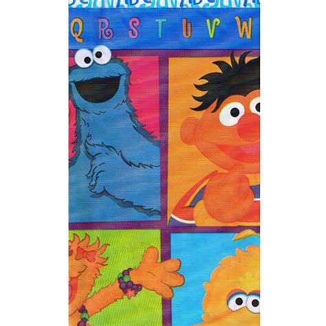 sesame street table cover sesame street 39 p is for party 39 plastic table cover 1ct