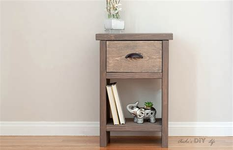 easy nightstand ideas diy night stand plans