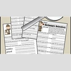 Dictionary Detective Worksheets For Kids