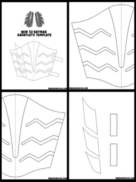 gauntlet template template for new 52 batman gauntlets the foam cave
