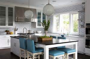 dining table kitchen island kitchen island as dining table with blue leather stools transitional kitchen