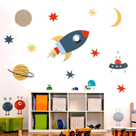 Lukisan mural tentang planet lusr angkasa : Mural Luar Angkasa Untuk Si kecil Yang Bercita-cita Menjadi Astronot