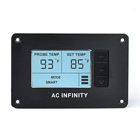 cabinet fan with thermostat ac infinity controller 2 fan thermostat and speed
