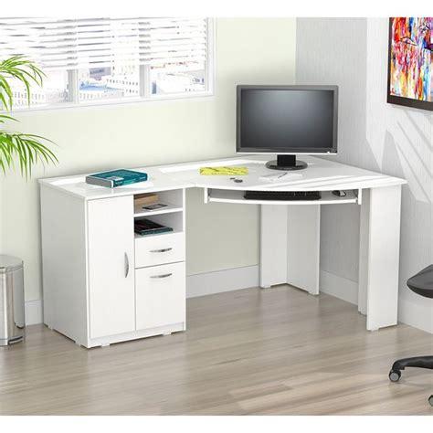 Contemporary white corner desks TCG
