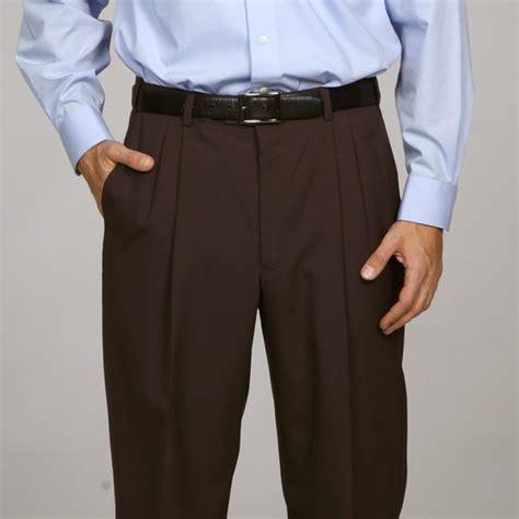 austin reed mens brown pleated brown dress pants