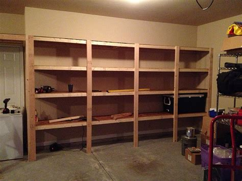 garage shelves diy how to build sturdy garage shelves 171 home improvement