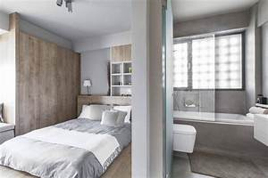 Peinture gris perle et meubles blanc casse en deco mini studio for Peinture gris perle chambre