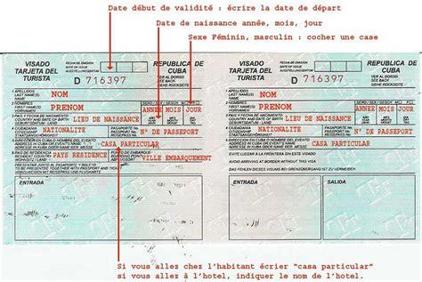 Consulat Cuba Carte Touristique by Comment Remplir Carte De Tourisme Cuba Lakestevensflorist