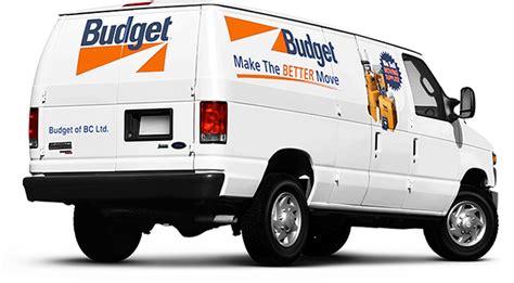 Budget Cargo Van Rental