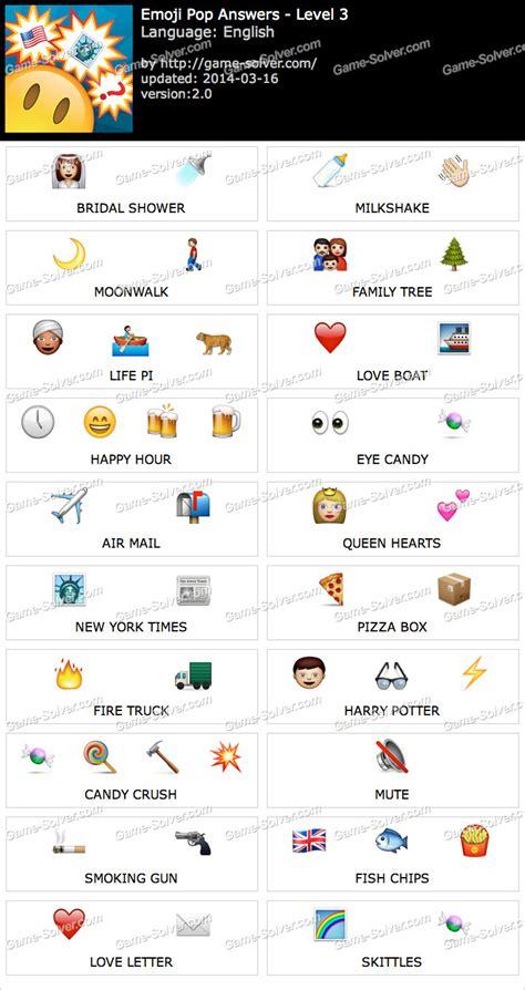 emoji pop level  game solver