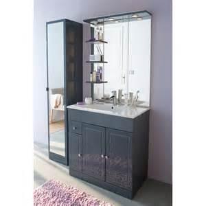 meuble de salle de bains gris 80 cm atrato castorama