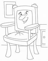 Chair Coloring Pages Cartoon Table Throne Chairs Getcoloringpages sketch template