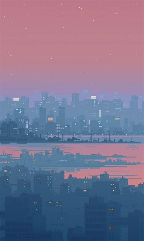 small  bit gif loops   bit pixel city pixel