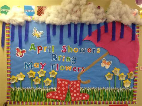 Spring Time Bulletin Board--like The Rain Boots