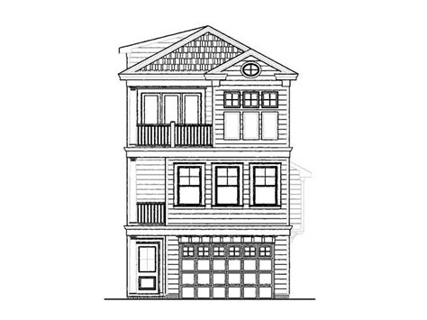 Narrow Beach Home Plan # 058h