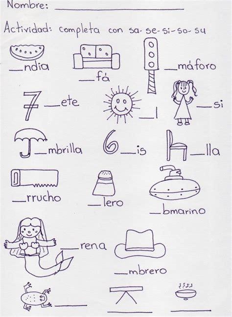 resultado de imagen de palabras con sa se si so su dibujos nelly escritura preescolar