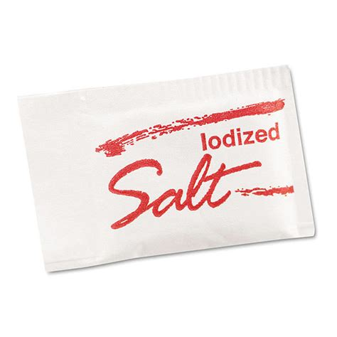 Grindstone Iodized Salt Packets 0.5g Size, Pack of 3,000