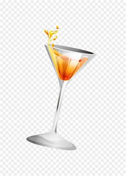 Juice Orange Wine Glass Martini Cocktail