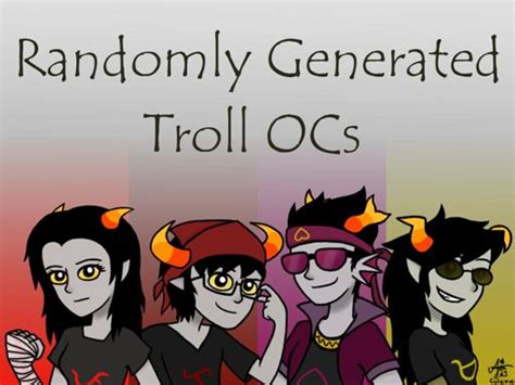randomly generated troll oc challenge homestuck