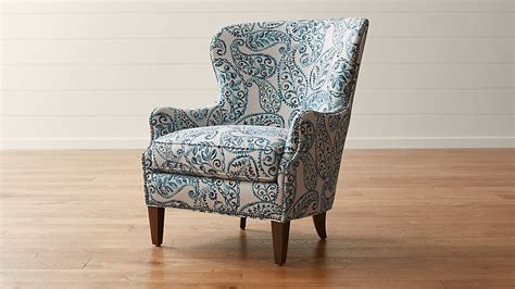 Brielle Blue Wingback Armchair